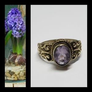 Vintage Amethyst .925 Sterling Silver Ring